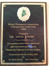 Chiro of the year 2006